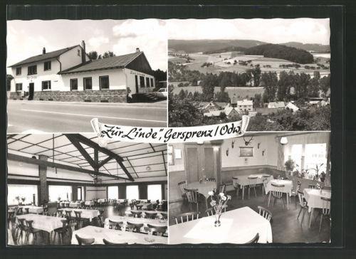 tolle AK Gersprenz, Gasthaus zur Linde, Ortspanorama