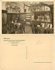 Oesterreich - Restaurant Zur Linde und Lindenkeller - Wien - Gegrundet (E-L 087)
