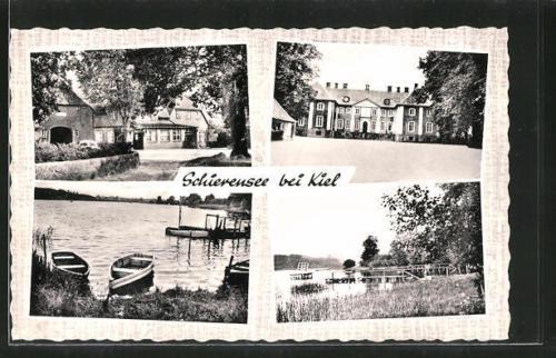 alte AK Schierensee, Gasthaus zur Linde, Partie am See