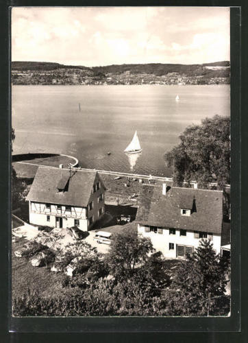 schöne AK Bodman, Hotel Linde am See 1962