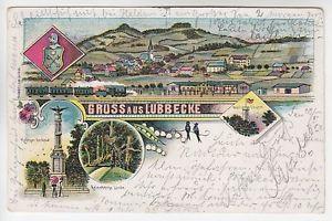 32312 Lübbecke Denkmal Total Turm Linde 1902 (r2302)
