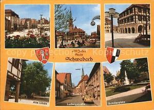 72597399 Schwabach Schillerplatz Alte Linde Ludwigstrasse Schwabach