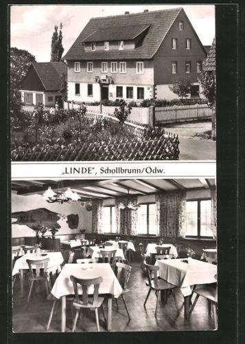 alte AK Schollbrunn, Gasthaus Linde