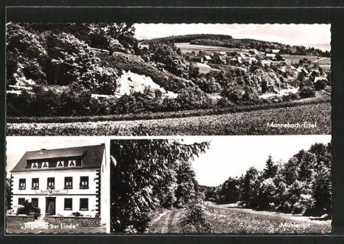schöne AK Mannebach, Gasthaus  Jägerhof zur Linde, Mühlental 1963