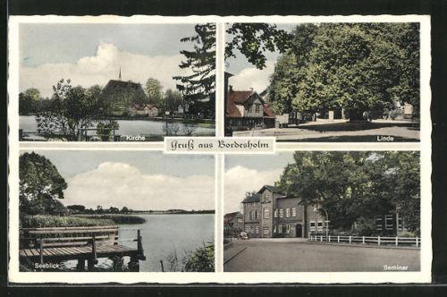 alte AK Bordesholm, Kirche, Seminar, Alte Linde