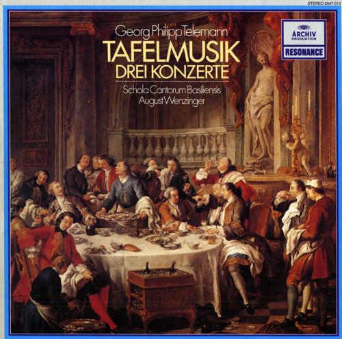 TELEMANN Tafelmusik - 3 Concertos MELKUS BRANDIS Violins LINDE Flute WEZINGER NM