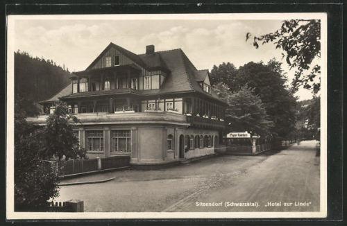 schöne AK Sitzendorf, Hotel zur Linde
