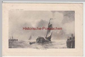 (49402) Künstler AK J.V.D. Linde: Mer Agitée, 1914