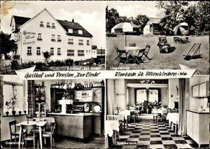 Ak Rimbach Oberirsen, Gasthof zur Linde, Katzmann Pick, Speiseraum - 1394978