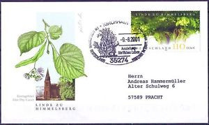 BRD 2001: Himmelsberg-Linde! FDC Nr 2208! Gelaufen! Sonderstempel Kirchhain! 1A