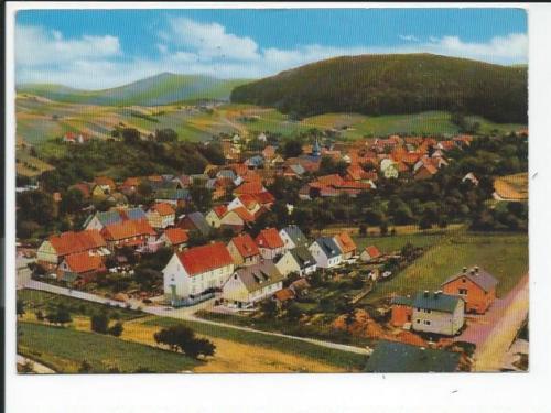 ROSSBACH << Luftaufnahme 11270 m. Pension Zur Linde >> color AK 1969