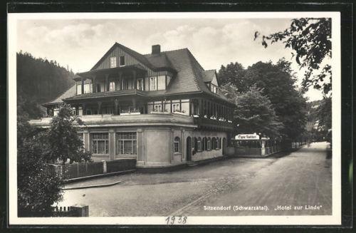 tolle AK Sitzendorf, Hotel zur Linde