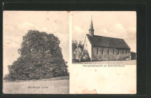 alte AK Schwanebeck, 600 jährige Linde, Herrgottskapelle