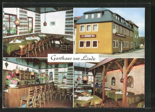schöne AK Bad Königshofen, Gasthaus Zur Linde, versch. Ansichten