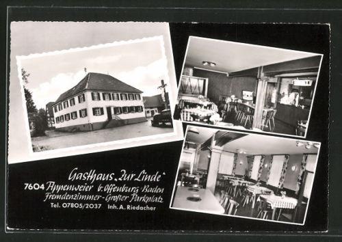 schöne AK Appenweier, Ansichten vom Gasthaus Zur Linde