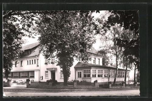 tolle AK Neuhaus, Blick auf das Hotel Zur Linde 1961