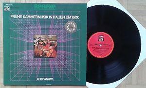 W630 EMI REFLEXE LINDE CONSORT EARLY ITALIAN CHAMBER MUSIC STEREO