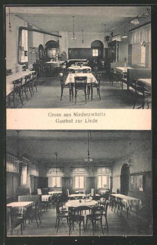 alte AK Niederzwönitz, Gasthaus zur Linde
