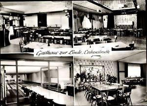 Ak Eschenstruth Helsa, Gasthaus Zur Linde, Kegelbahn, Saal mit... - 1473970