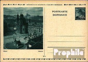 Bohemia et Moravia p6 Officiel Carte postale inusés 1939 lInde branche