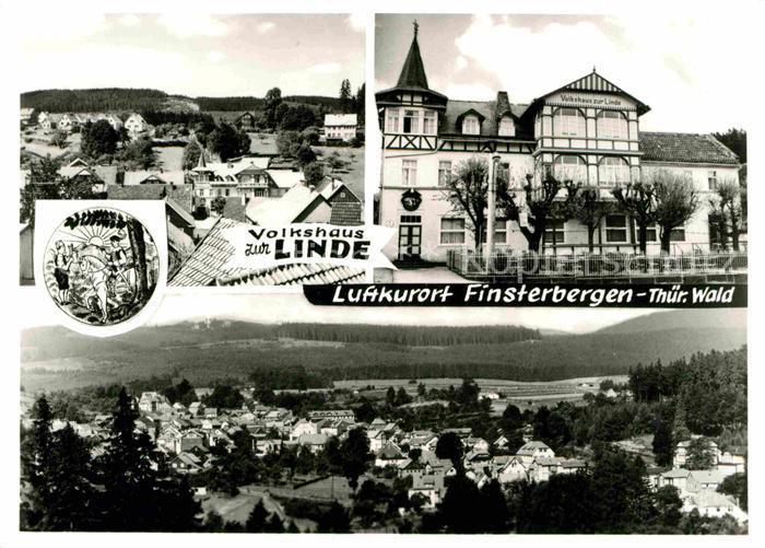 72645945 Finsterbergen Volkshaus zur Linde Fliegeraufnahme Finsterbergen Thuerin