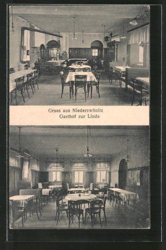 alte AK Niederzwönitz, Gasthaus zur Linde 1928