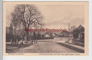 (99851) AK Allendorf, Werra, Zimmersbrunnen, Linde, vor 1945