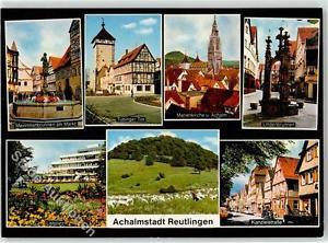 52248627 - Reutlingen Maximiliansbrunnen am Markt Listplatz Kanzleistrasse Linde