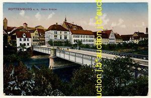 ROTTENBURG Neckar-Brücke / Gasthof Linde * AK um 1910