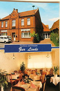 21272 AK Gasthaus und Pension zur Linde Verden Innenansicht Gastraum um 1970