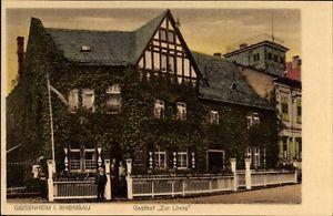 Ak Geisenheim am Rhein Hessen, Gasthof Zur Linde, Besitzer Wollmann - 1060449