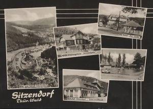 Sitzendorf mit FDGB Erholungsheim  Hotel zur Linde  Bad Bahnhof