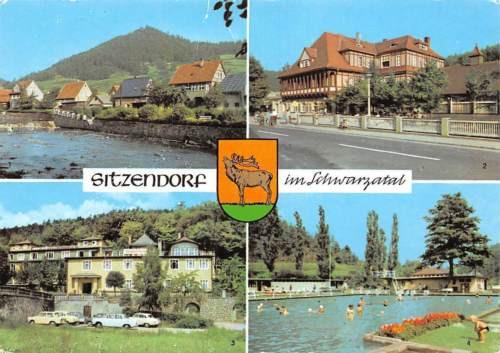 Germany Sitzendorf im Schwarzatal Hotel Zur Linde Bergterrasse Schwimmbad