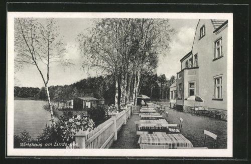 schöne AK Linde, Wirtshaus am Linde-See