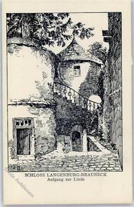 51455254 - Langenburg , Wuertt Schloss Langenburg Aufgang zur Linde sign. A.Ball