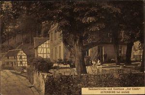 Ak Altenburg Alsfeld im Vogelsbergkreis, Gasthaus zur Linde, Terrasse - 1610936