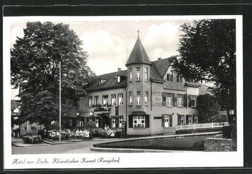 tolle AK Rengsdorf, Blick auf Hotel zur Linde, Bes. W. Belker