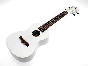 kokio Linde Concert Ukulele with case, White / White