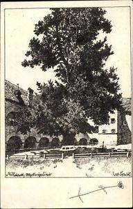 Künstler Ak Seidl, Ulf, Millstatt am See Kärnten, 800 jährige Linde - 1137194