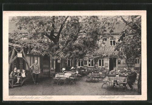 tolle AK Hohnstädt, Gasthaus Sommerfrische zur Linde, Terrasse 1929