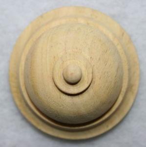 Ornament  Holzknopf ,Verzierung ,Holzzierteil in Linde,Vertiko,Schrank Nr.12