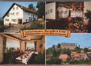 41557957 Schwarzenfels Pension Zur gruenen Linde Klappkarte Sinntal