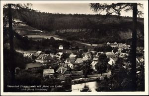 Ak Sitzendorf Schwarzatal, Ortschaft mit Hotel zur Linde u. Haus... - 716754