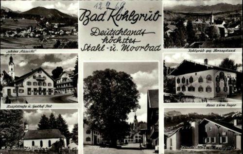 Bad Kohlgrub Bayern Mehrbildkarte 1969 Gasthof Post alte Linde Hörndlehütte u.a.