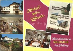 72131953 Neuhaus Solling Hotel zur Linde Bierstuebchen Kaffeegarten Liegewiese