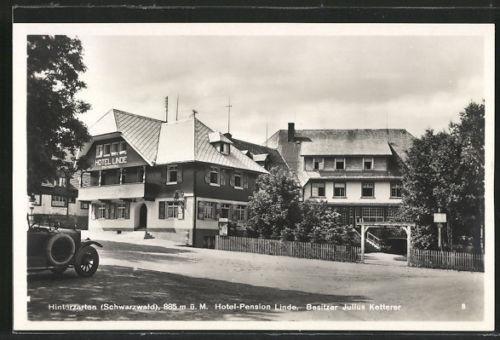 schöne AK Hinterzarten, Hotel-Pension Linde