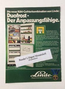 Werbung ca A5: Linde Kältetechnik 1974 (21021554)