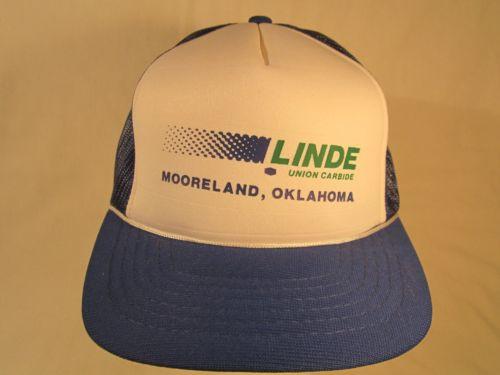 Vintage Hat Mens Cap LINDE UNION CARBIDE Mooreland, Oklahoma [Y155a]