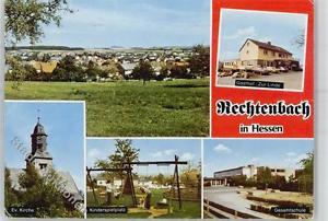 51388163 - Rechtenbach , Hess ev. Kirche Gasthaus Zur Linde Gesamtschule Kinders
