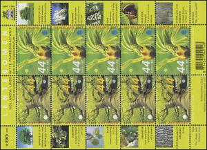 2487 Bäume im Frühling: Linde und Kastanie 2007 - Kleinbogen, postfrisch **